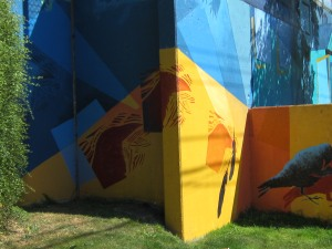wall art, culture, East Van, Vancouver, art, crows, graffiti