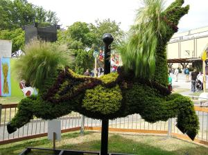 sculpture, horses, topiary, PNE