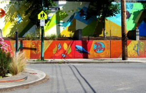 wall, East Van, art, design, crows, graphic art, graffiti, wall art, community