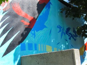 wall art, East Van, art, culture, crows, graffiti,