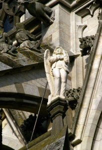 Den Bosch, angel, architecture, gothic cathedral, St. John's Cathedral, Holland