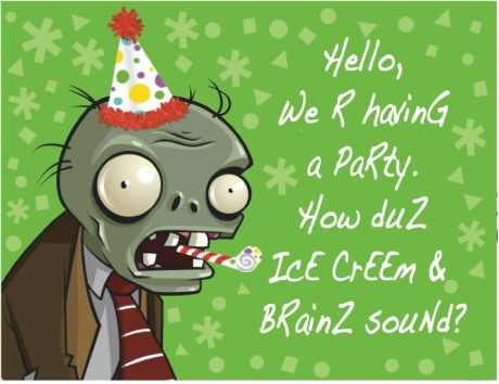 zombies, brains, food, dieting, apocalypse diet, party, end of the world