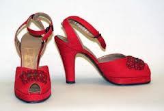 fashion, shoes, 1940, footwear, platform shoes, heels