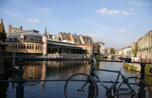 Ghent, Gent, Belgium, canals, architecture, travel