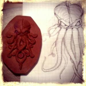 Lovecraft, Cthulhu, Trespasser Ceramics, art, horror, clay, pottery, Andrew Tarrant