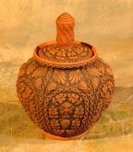 sprigs, clay, art, pottery, molds, clay, vessels