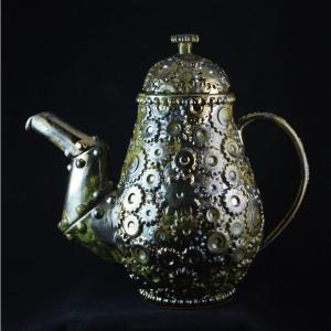teapot, steampunk, ceramics, Trespasser Ceramics, art, clay, pottery