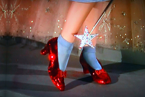 Wizard of Oz, Peter Pan, ruby slippers, silver slipers,