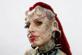 This is extreme body adornment and modification. Creative Commons Boing Boing