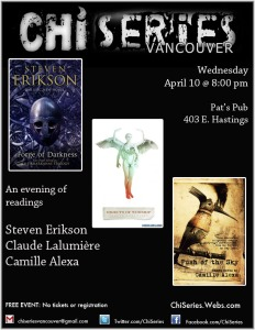fantasy, SF, horror, speculative fiction, Vancouver readings