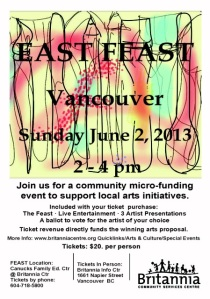 artists, local events, arts, Vancovuer, East Van
