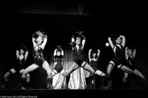 Screaming Chicken burlesque, chorus line, dancers,