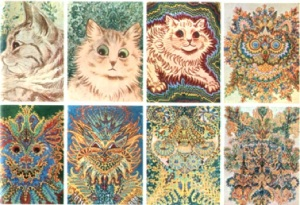 Louis Wain, H.G. Wells, paranormal, horror, speculative fiction
