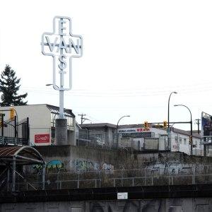 East Van cross, Ken Lum, red devil statue, public art, art statements