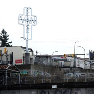 East Van cross, Ken Lum, red devil statue, public art, art statements