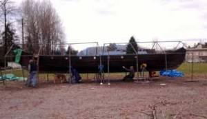 Scandinavian Centre dinner, Munin ship. Viking longboat