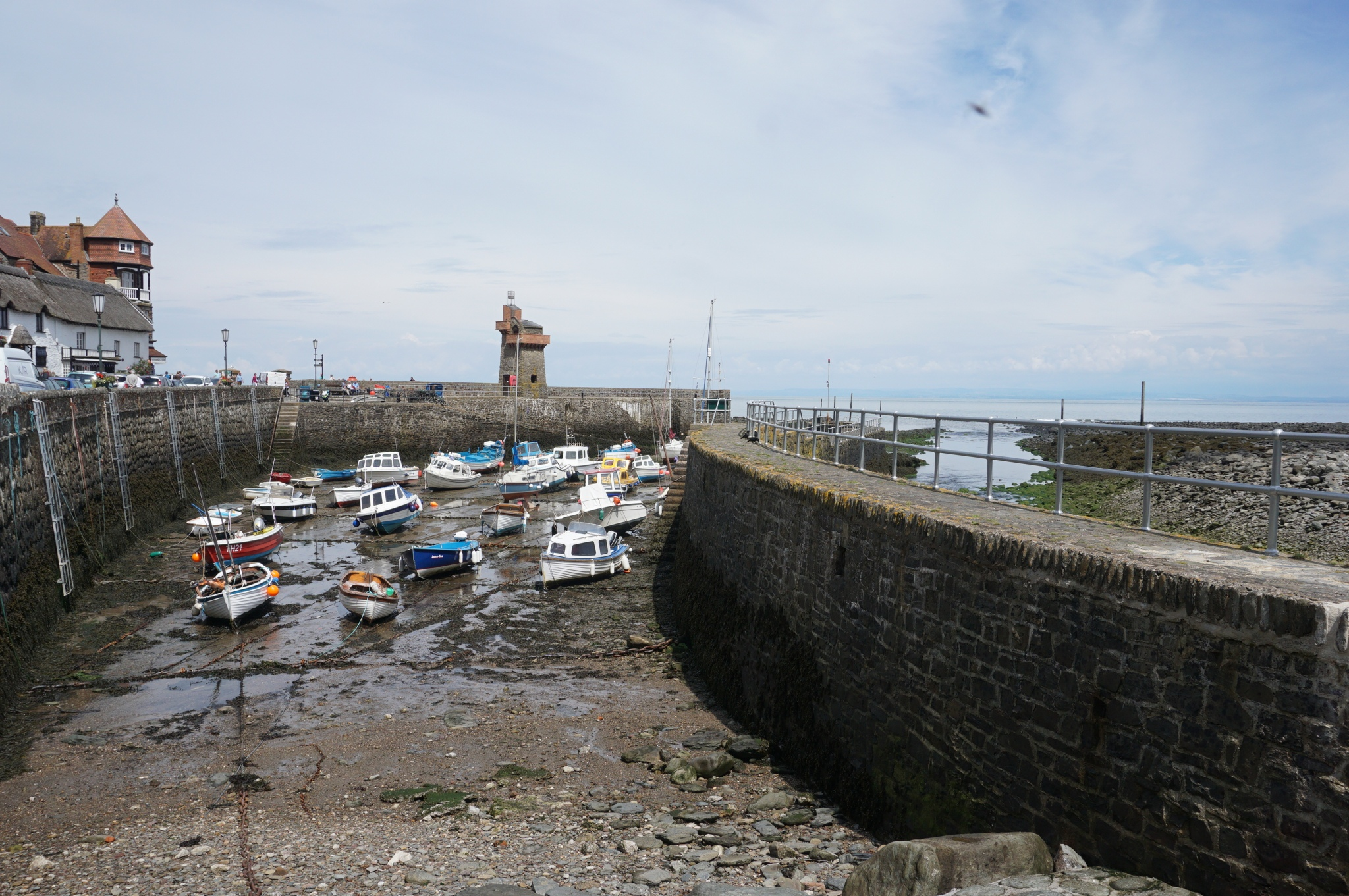 Lynmouth, UK, seaside towns, Devonshire, high tide
