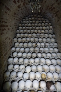 ossuary, bone chapel, Brno, Czech Republic, bones