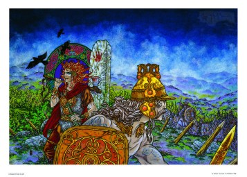 Fahey Cuchulainn, The Hound of Ulster. Print by Jim Fitzpatrick